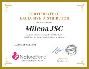 Milena - phân phối độc quyền cốc hứng sữa silicon Naturebond