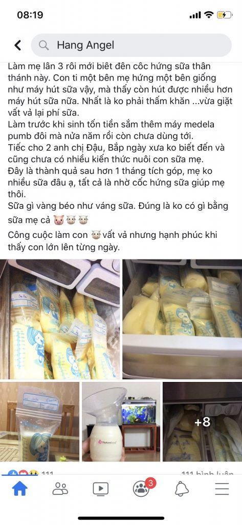 review cốc hứng sữa NatureBond Model 2020