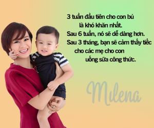 Milena sẽ luôn sát cánh cùng các mẹ.
